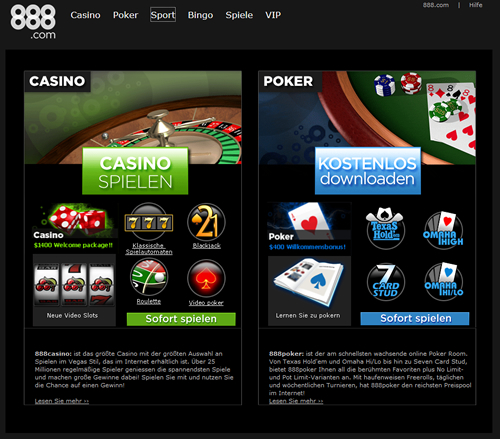 online casino 888 casino in deutschland